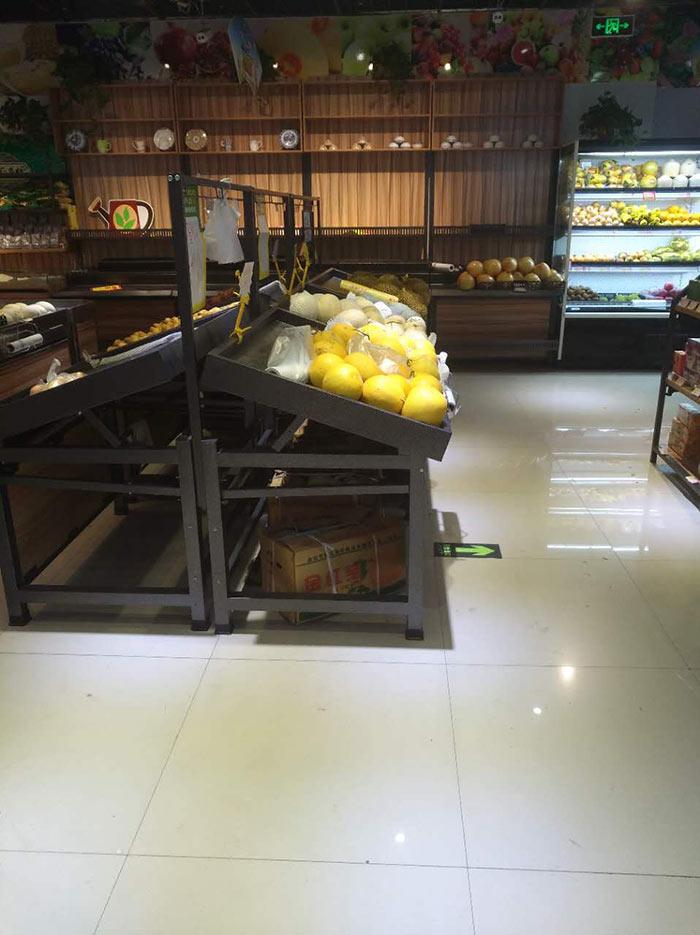 郑州心一果蔬超市超市货架案例
