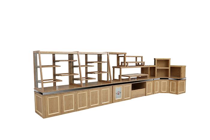 红叶木制面包展示柜