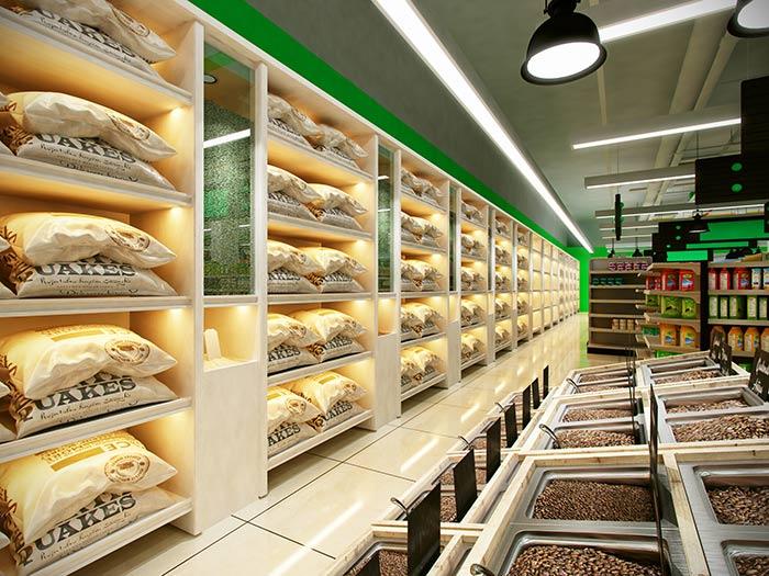超市货架粮油区货架
