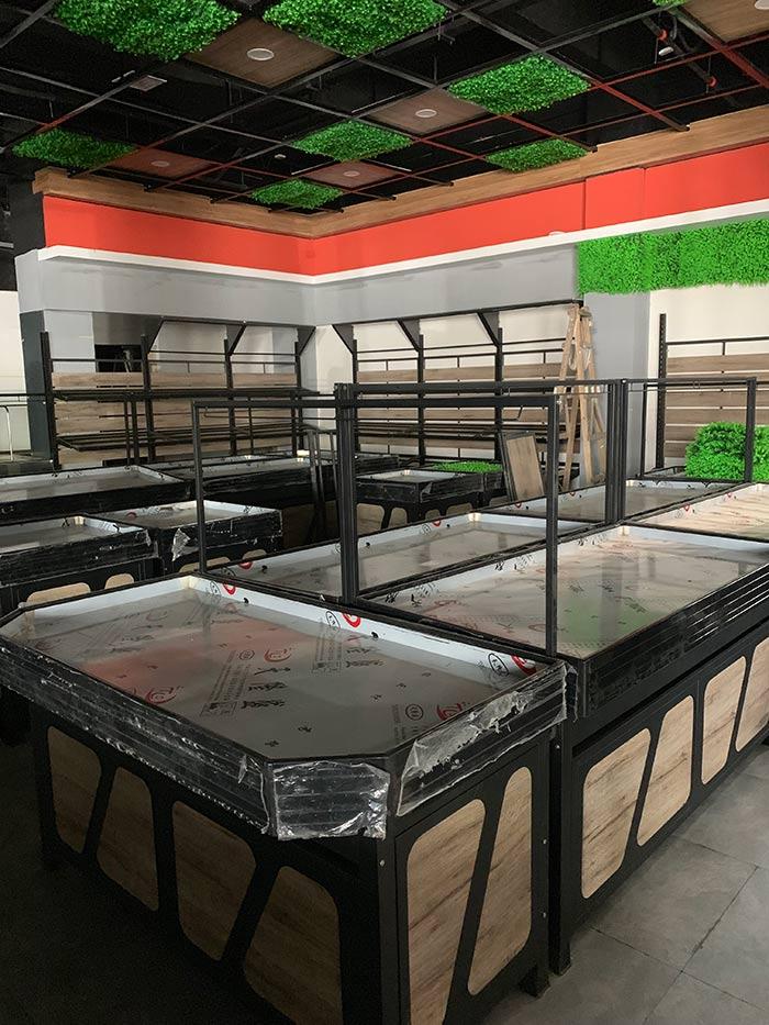 超市钢木生鲜水果货架