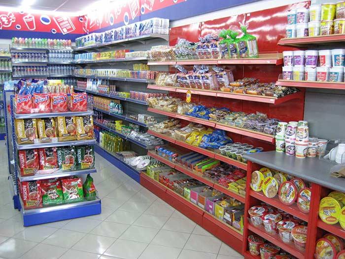 超市货架陈列