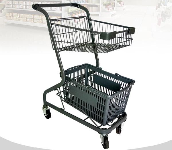 新款放购物篮购物车