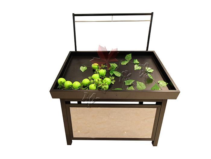 HY-永辉款单层钢木果蔬架