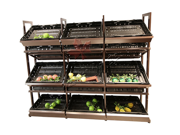 中岛双面蔬菜水果货架