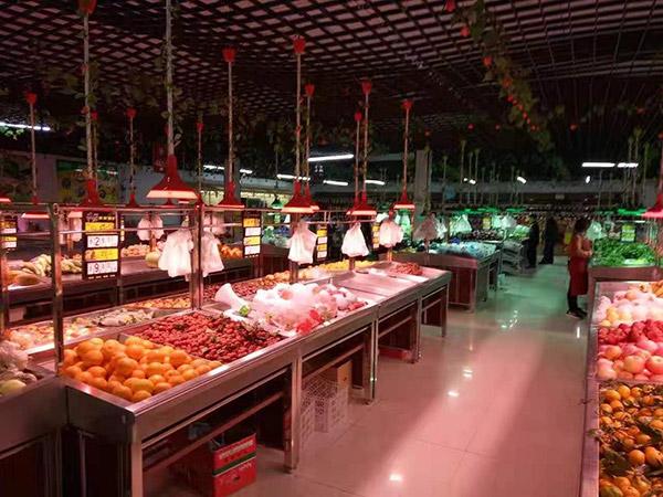 钢木蔬菜水果货架
