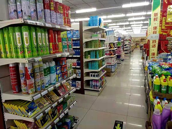 南阳社旗县朱集镇尚购购物广场双面超市货架