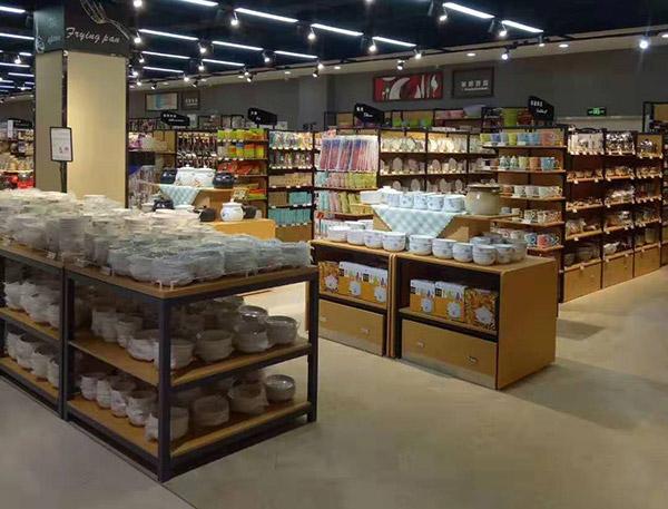晋城汇邦世纪联华超市三层展示架