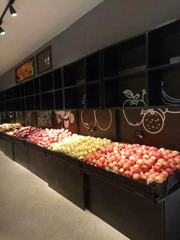 晋城汇邦世纪联华超市生鲜水果货架