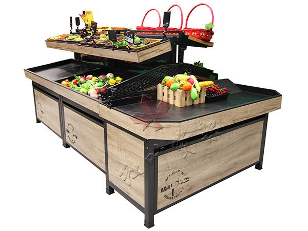HY-双层复古蔬菜水果货架