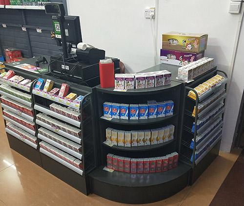 超市柜台货架