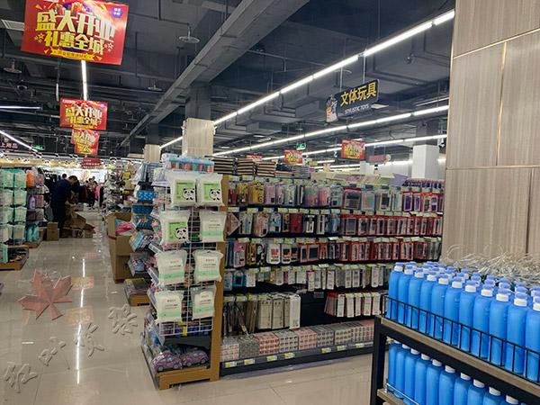 郑州西域圣亚超市货架案例