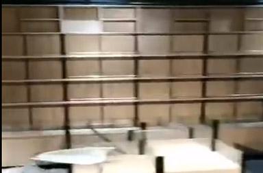 郑州某超市货架安装完毕,效果还行