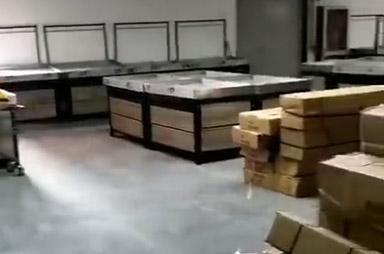 洛阳市孟津县会盟金三角购物广场超市货架案例