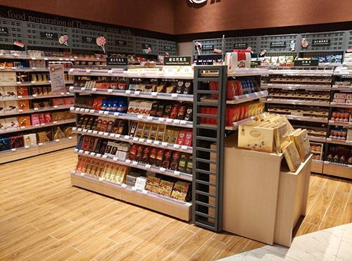超市货架的颜色怎么选择,想要暖色调的颜色