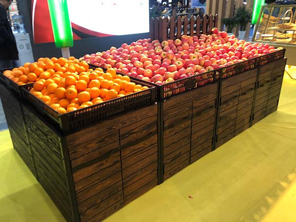 复古式蔬菜水果货架