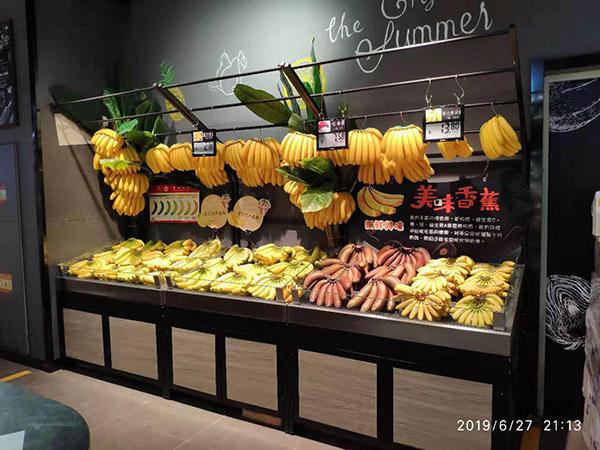 单面靠墙蔬果架