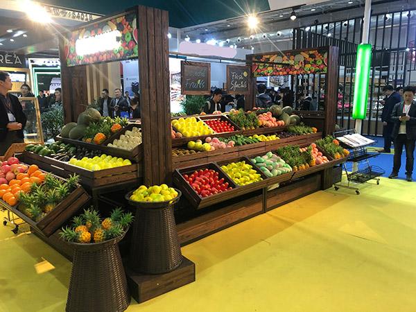 木制加藤筐蔬菜水果货架