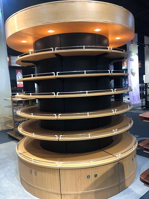 圆形包柱子货架