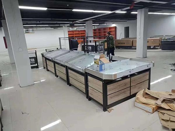 驻马店市泌阳县高店超市货架安装案例