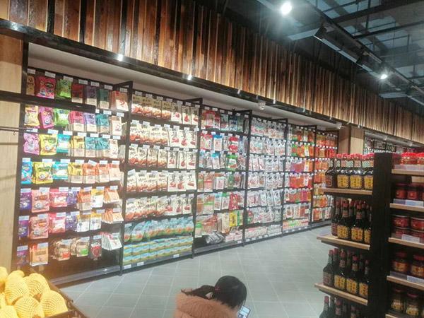 单面超市货架