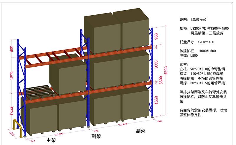 重型横梁式货架