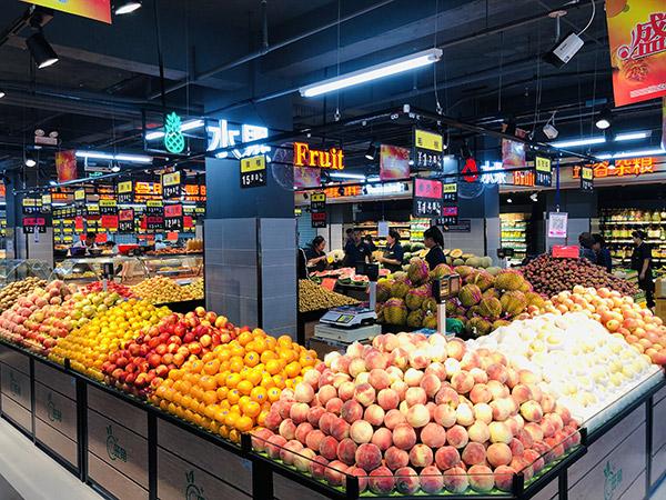 蔬菜水果货架是平底的好还是放筐的好