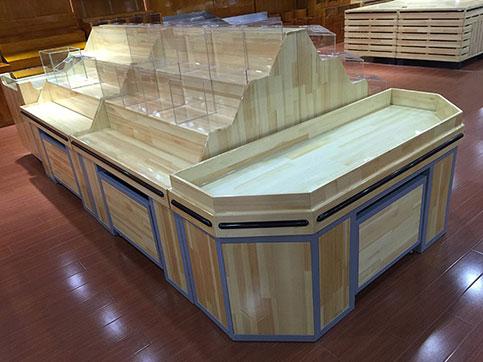 木质生鲜货架005