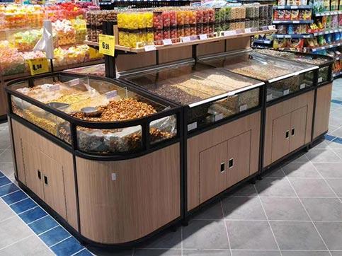 超市散装瓜子货架款式有哪些?