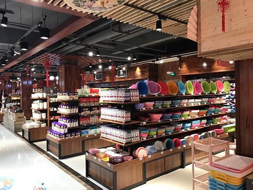 新款超市带端头钢木货架
