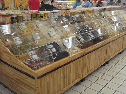 超市散装货架有什么摆放技巧?