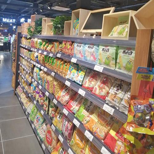 超市双面货架带造型