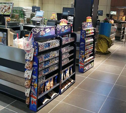 超市收银台前架