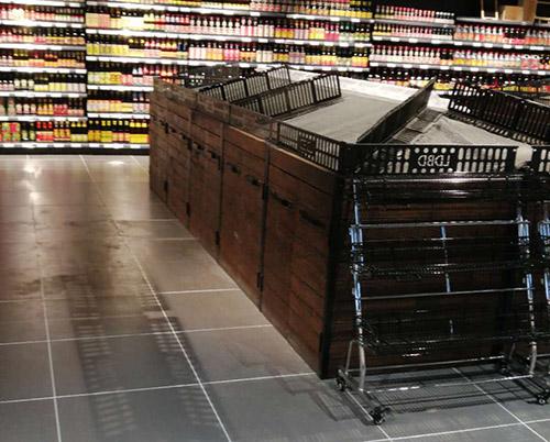 果蔬区域货架