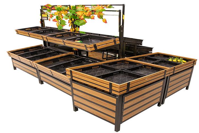 新款钢木生鲜货架