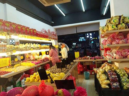 水果店只有超市货架怎么办?