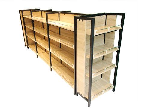 超市钢木结合货架日常维护保养小技巧,必须要掌握