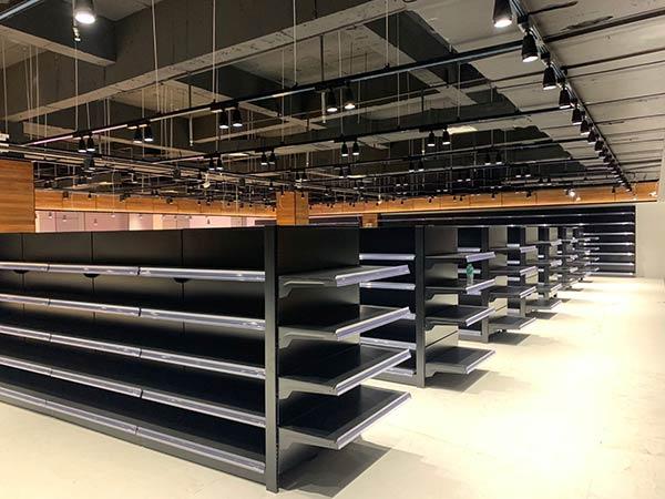 超市双面钢制货架案例
