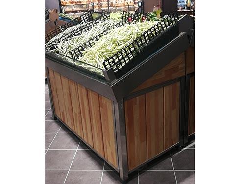 钢木蔬菜货架