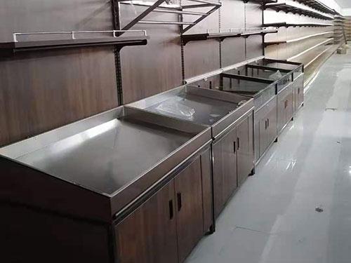 复古不锈钢菜架