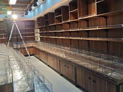 钢木单面超市货架