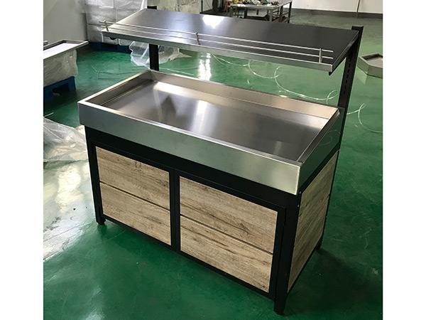 两层不锈钢台面蔬菜水果货架